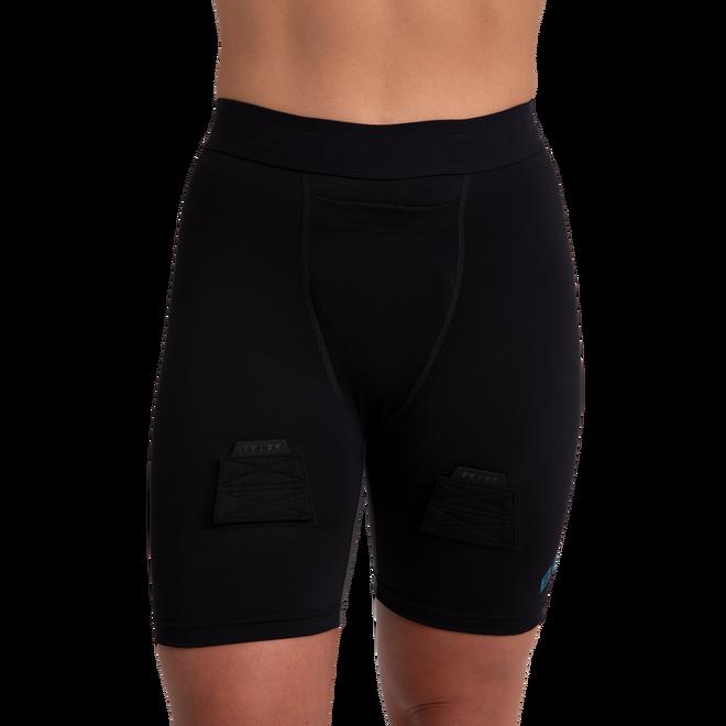 Kompressionsshorts mit Tiefschutz für Damen