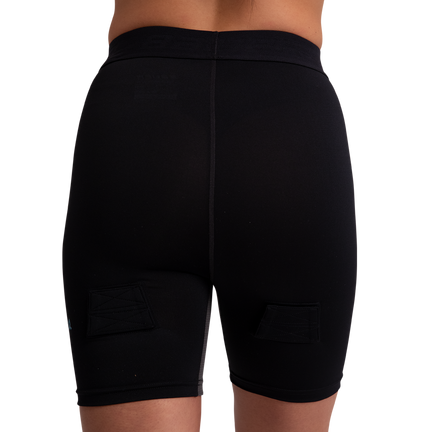 Kompressionsshorts mit Tiefschutz für Damen,,Medium