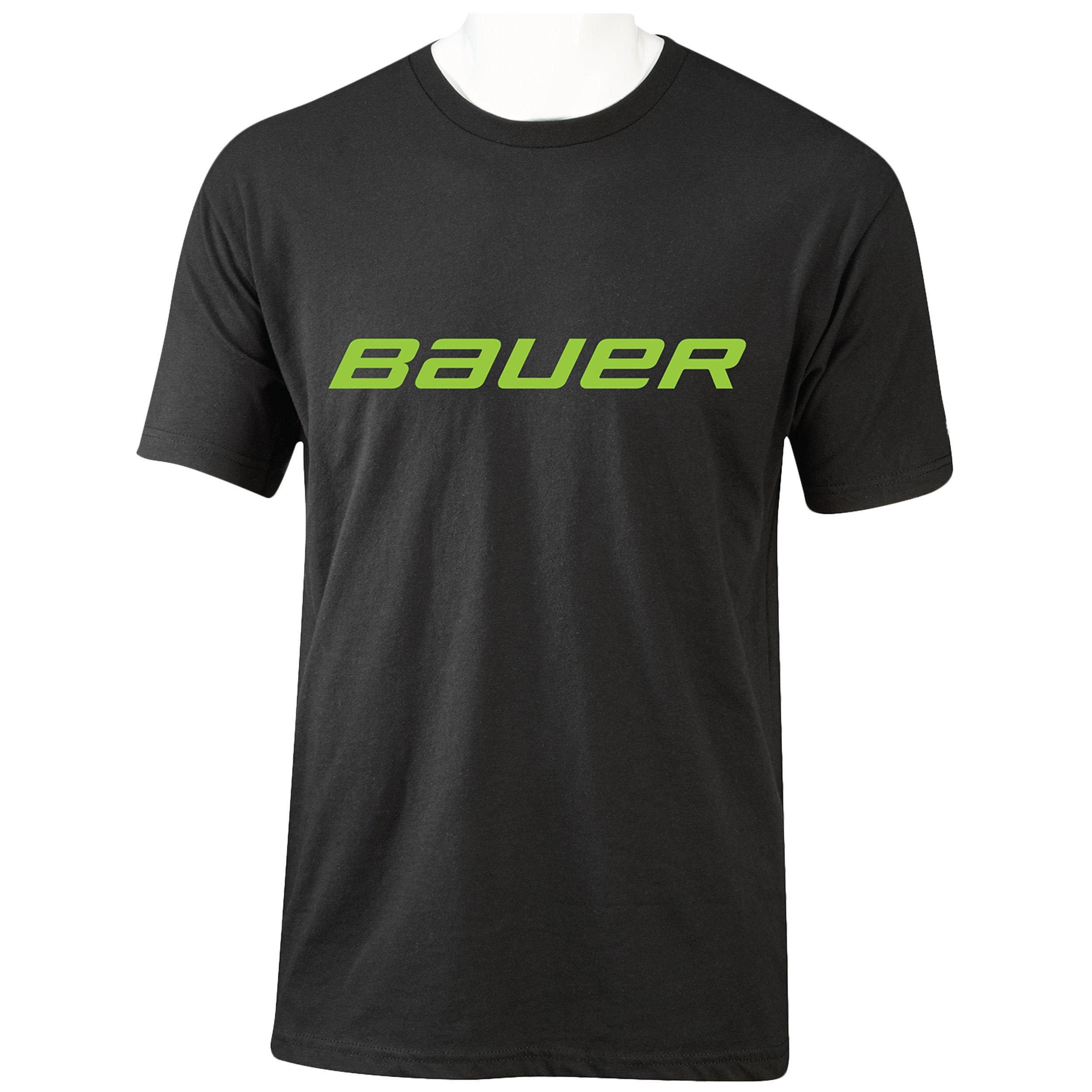 BAUER Core Short Sleeve Tee Color Pop Senior - Lime,,moyen