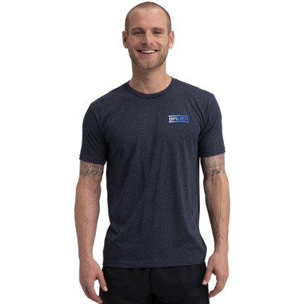 BAUER Core Short Sleeve Tee Color Pop Senior - Sapphire,,moyen