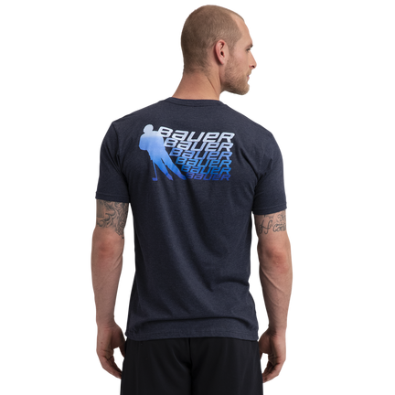 BAUER Core Short Sleeve Tee Color Pop Senior - Sapphire,,medium