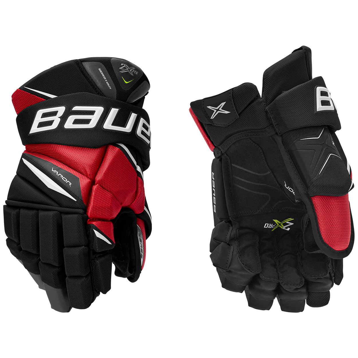 VAPOR 2X PRO Glove Senior,Svart röd,medium