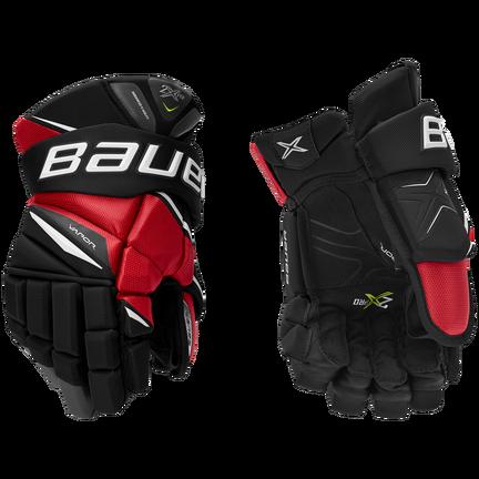 VAPOR 2X PRO Glove Senior,Svart röd,medium