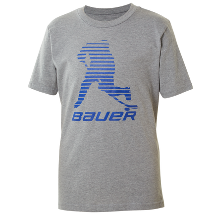 BAUER Core Short Sleeve Tee Color Pop Youth - Sapphire,,moyen