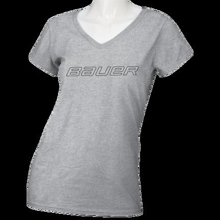 Women's Short Sleeve V-Neck T-Shirt - Senior,LJUSGRÅ,medium