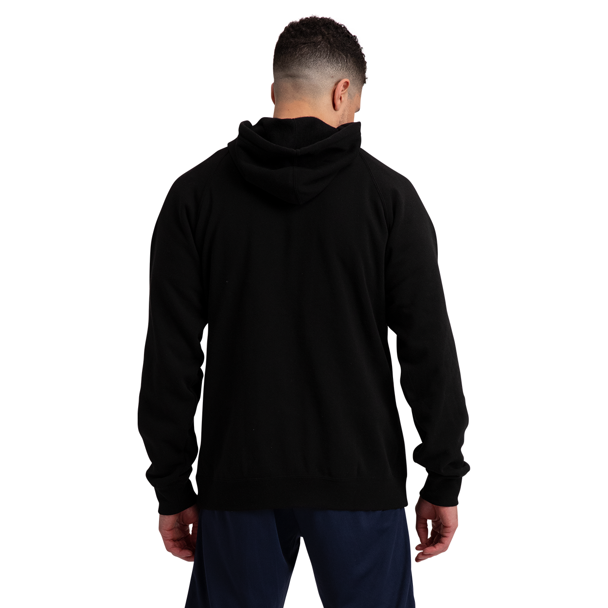 Core Fleece Hoody w/Graphic,Black,medium