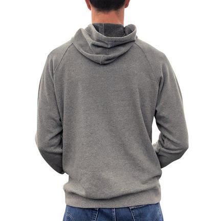 Core Fleece luvtröja med tryck,Gråmelerad,medium
