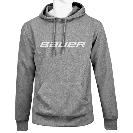 Performance Fleece Kapuzenpulli mit Grafik,GRAU MELIERT,Medium