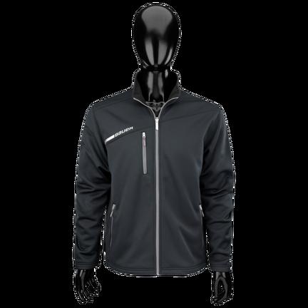 Flex Tech fleece med hel dragkedja,SVART,medium