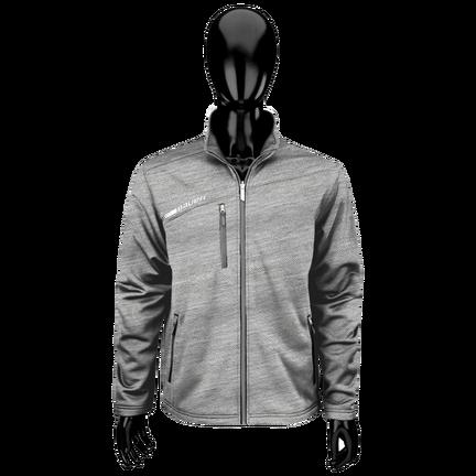 Flex Tech fleece med hel dragkedja,LJUSGRÅ,medium