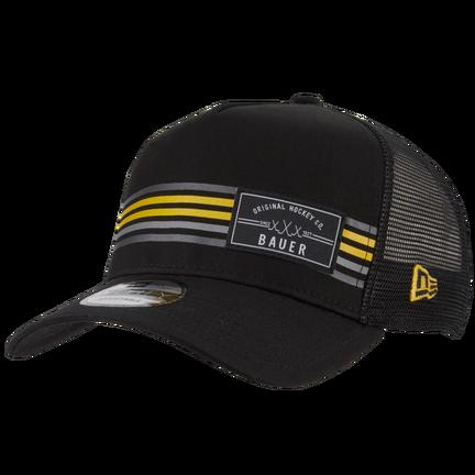 New Era 9FORTY Snapback Stripe Patch Hat,Svart,medium