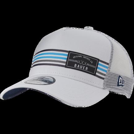 New Era 9FORTY Snapback Stripe Patch Hat,Vit,medium