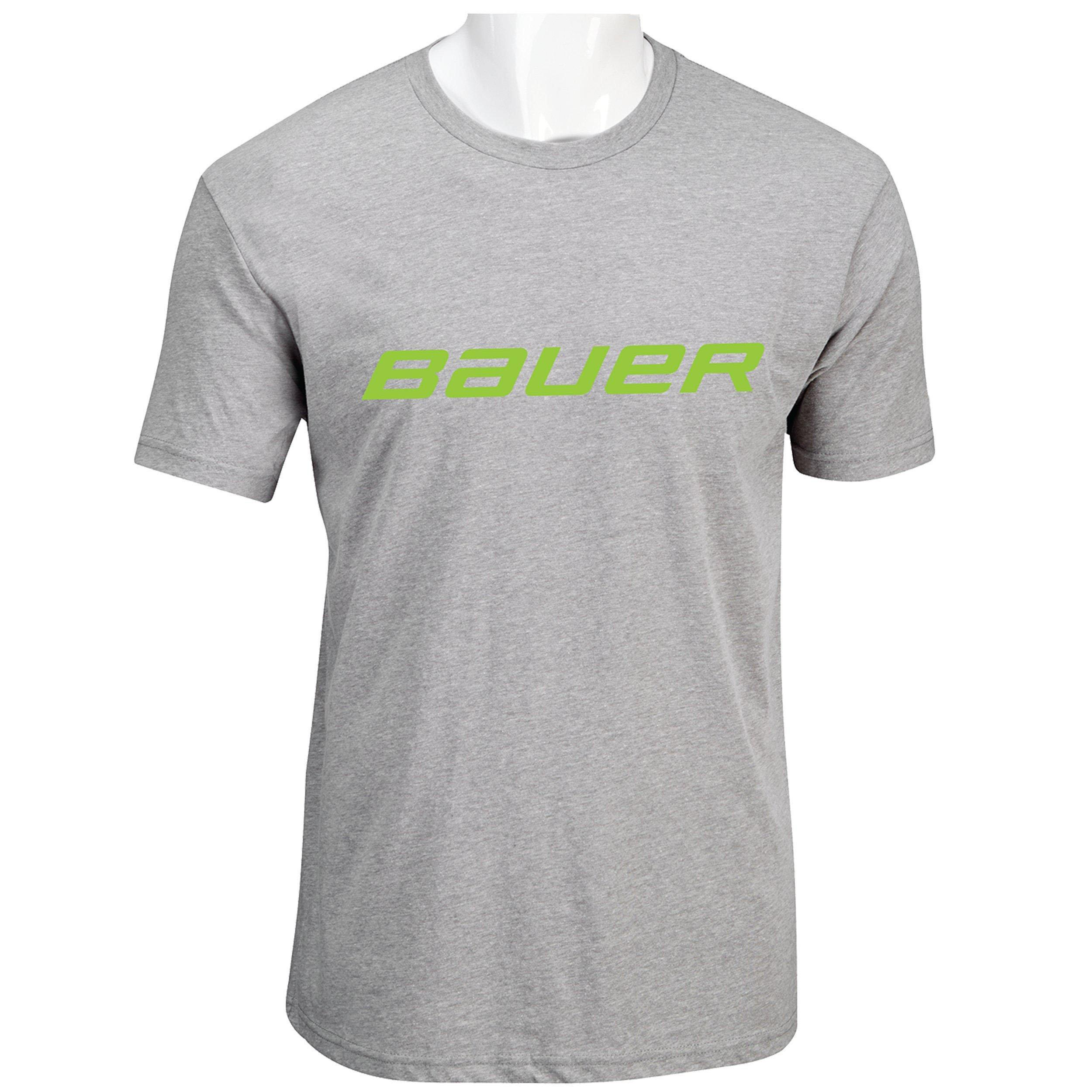 BAUER Core Short Sleeve Tee Color Pop Youth - Lime,,Размер M