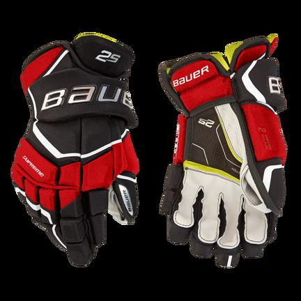 Supreme 2S Gloves Junior,Svart röd,medium