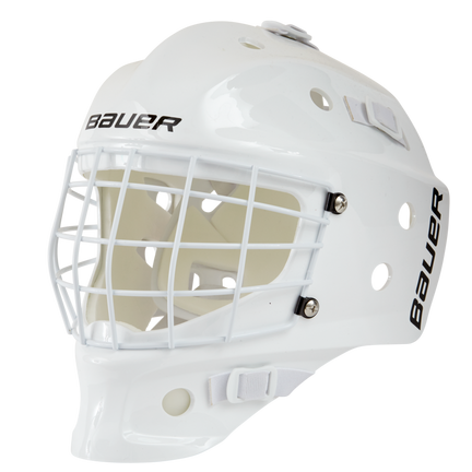 NME STREET Hockey GOAL MASK Youth,WHITE,medium
