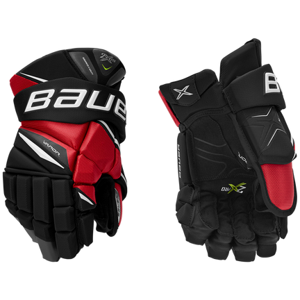 VAPOR 2X PRO Glove Junior,Schwarz/rot,Medium