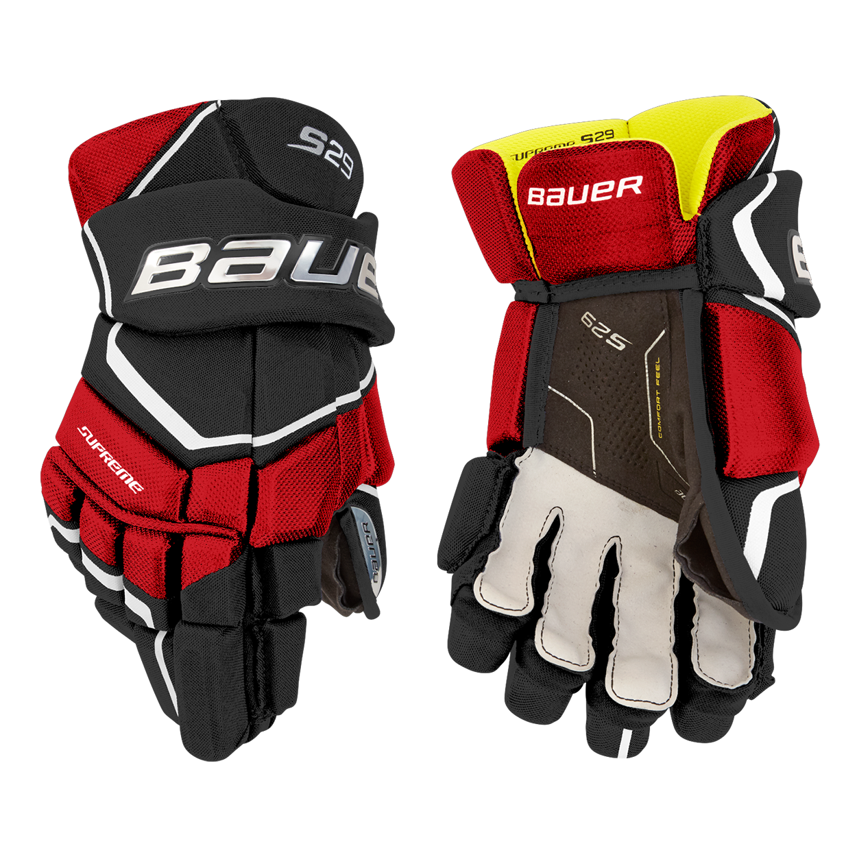 Supreme S29 Gloves Senior,Schwarz/rot,Medium