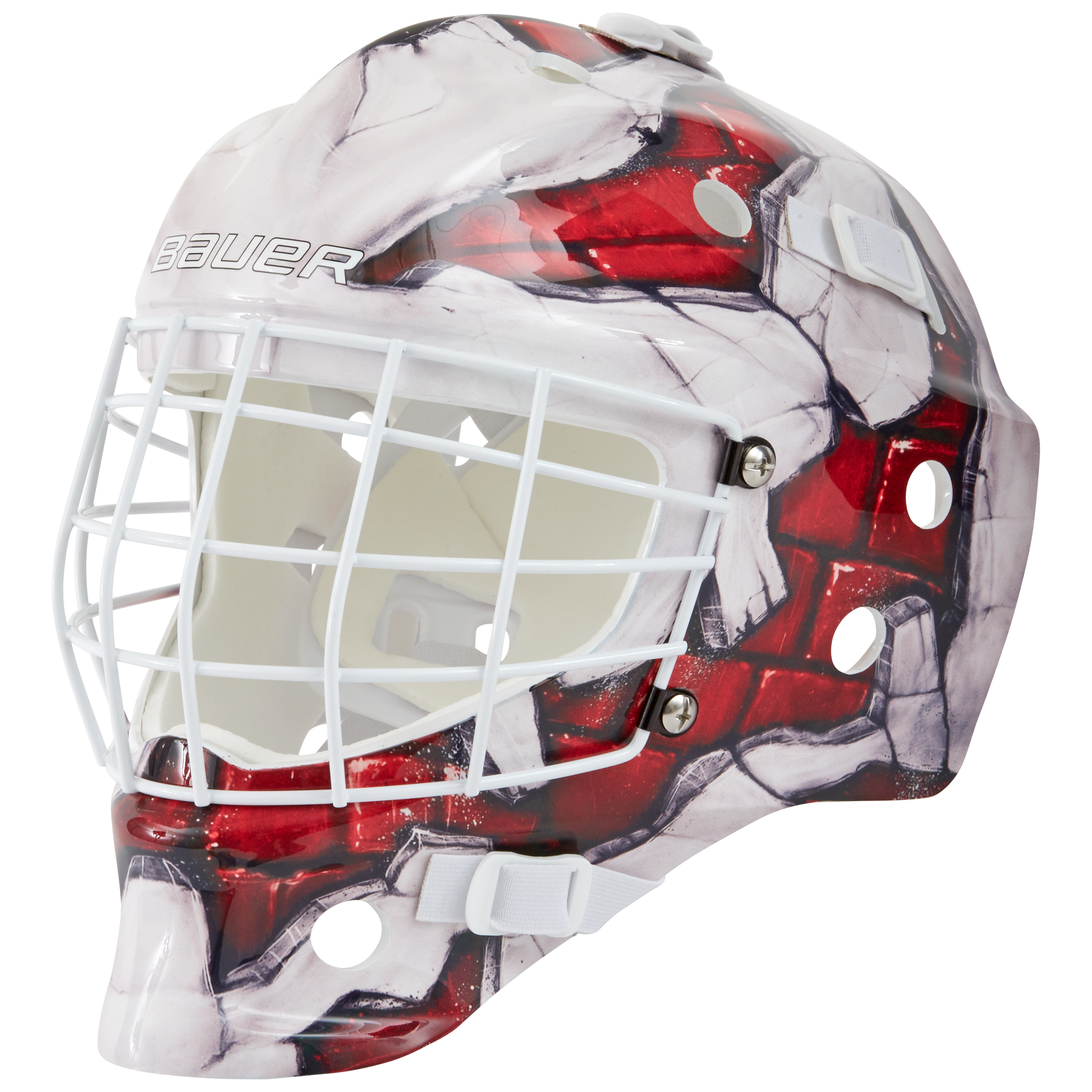 NME STREET GOAL MASK YOUTH S17,BRICK,medium