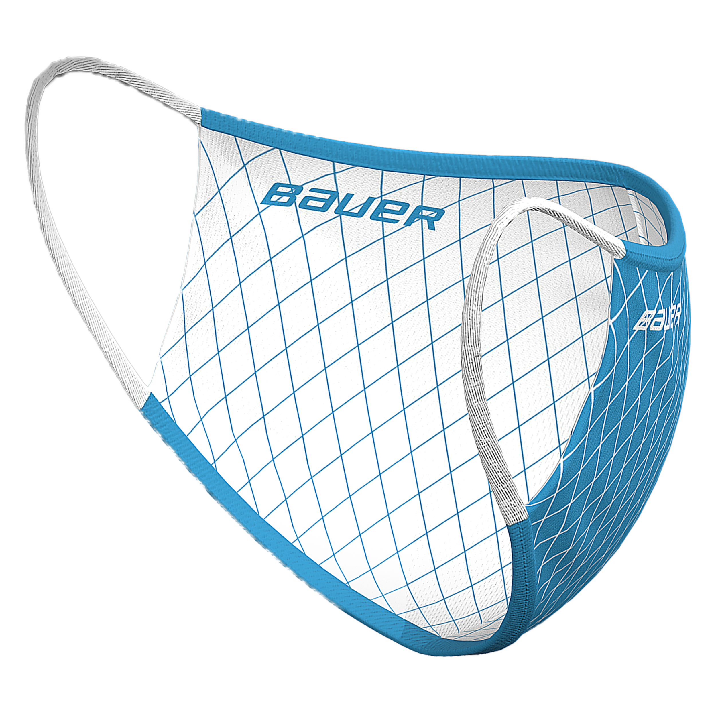 Bauer Reversible Fabric Face Mask,Blue/White,medium