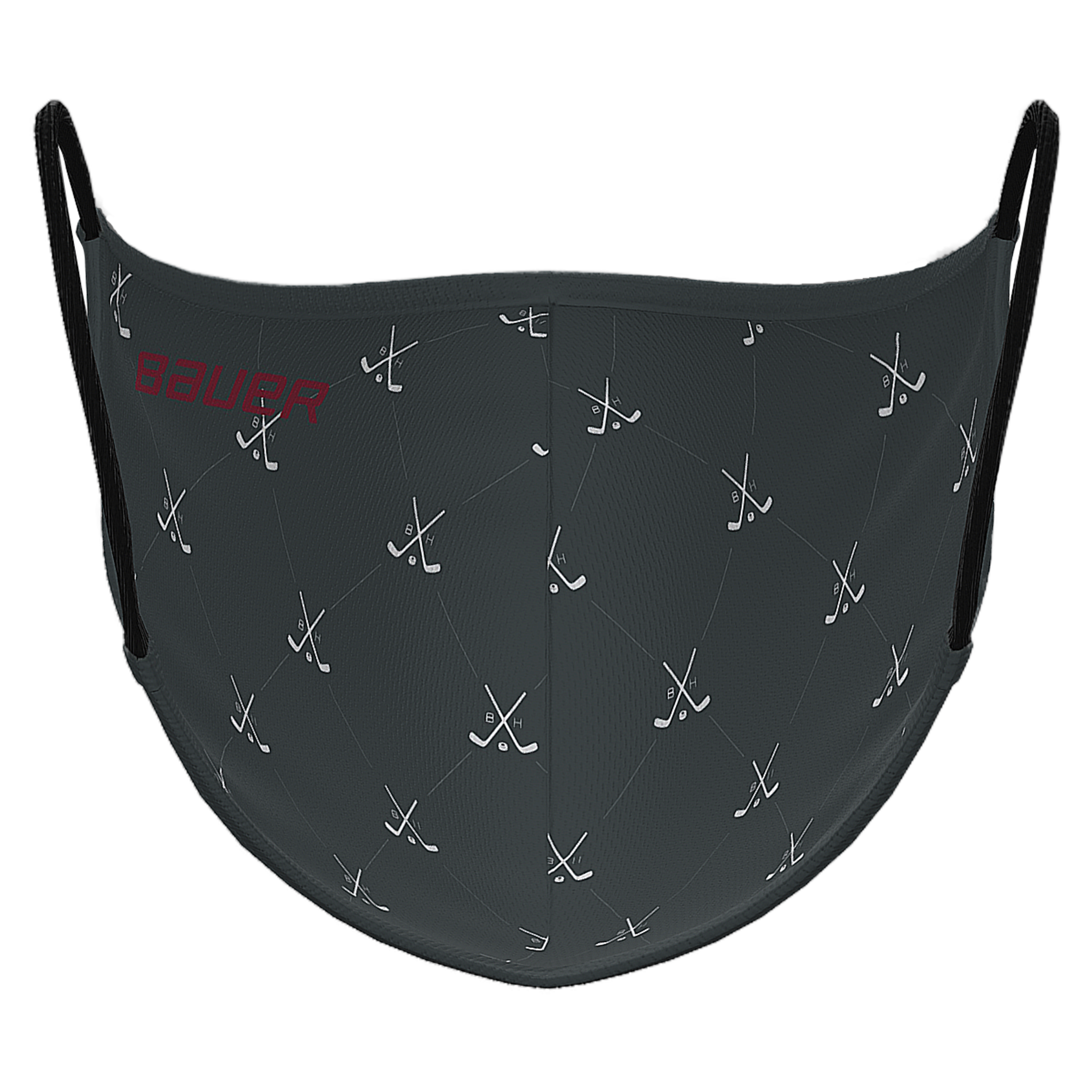 Bauer Reversible Fabric Face Mask Grey/Grey