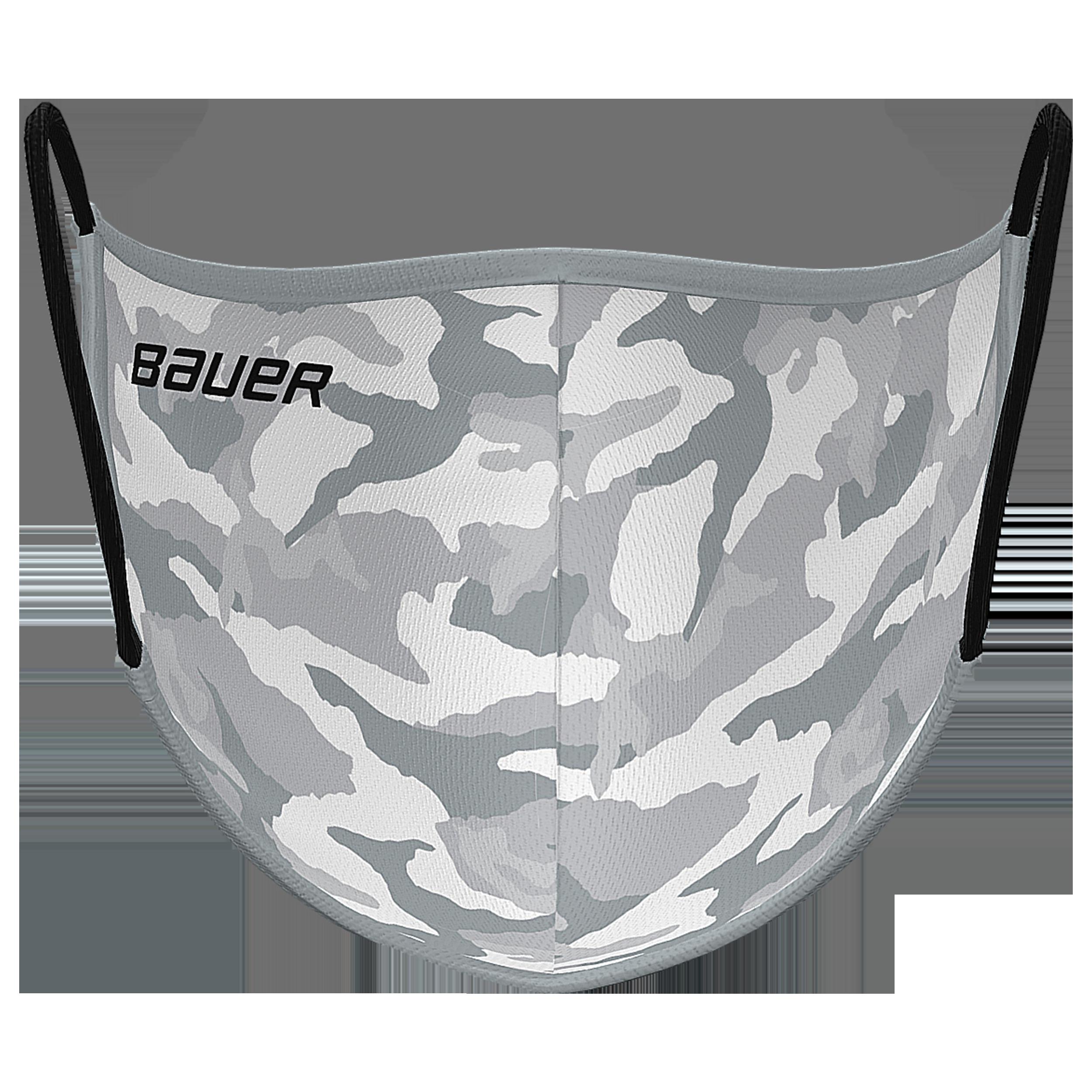 Bauer Reversible Fabric Face Mask Grey/Camo