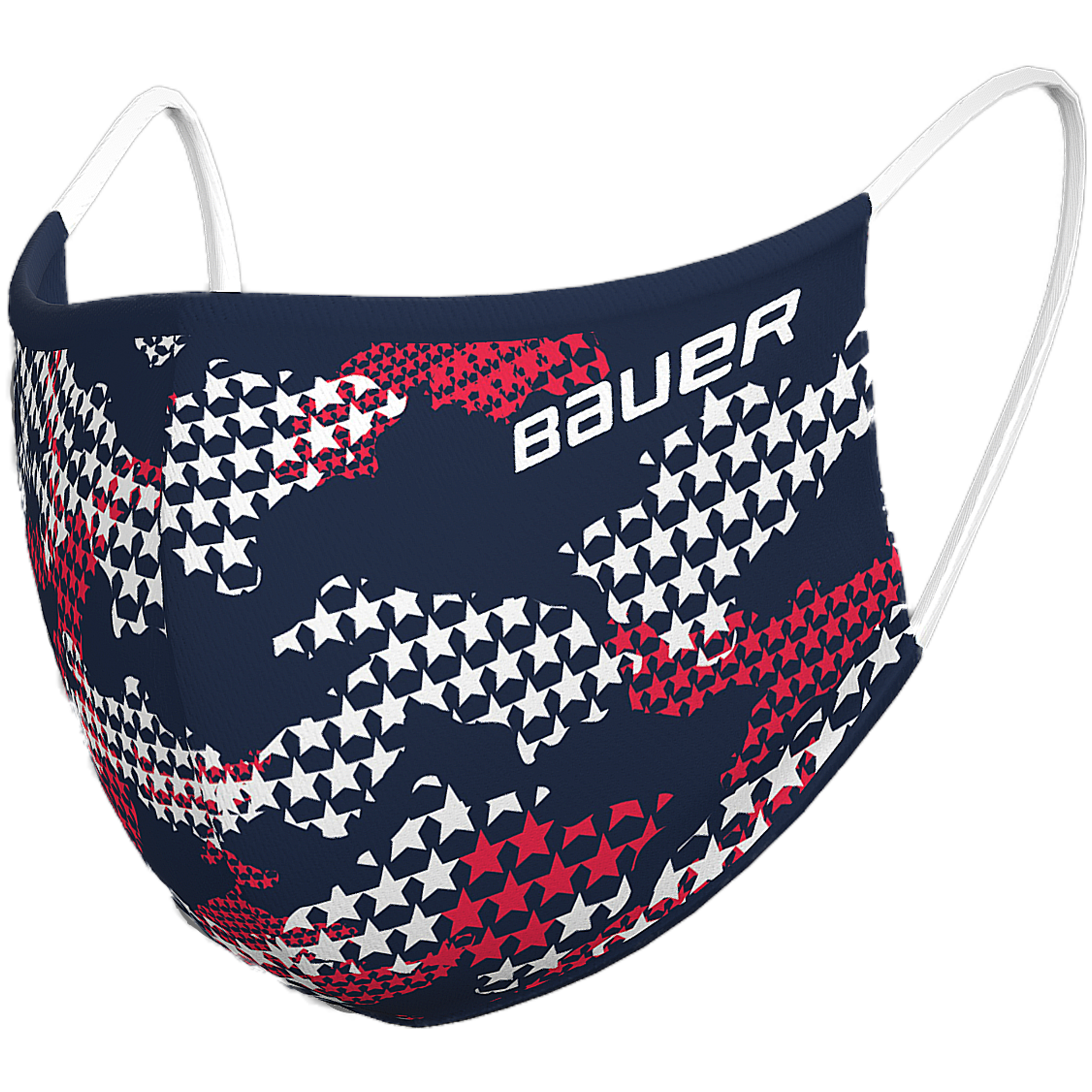 Bauer Reversible Fabric Face Mask Navy/Stars