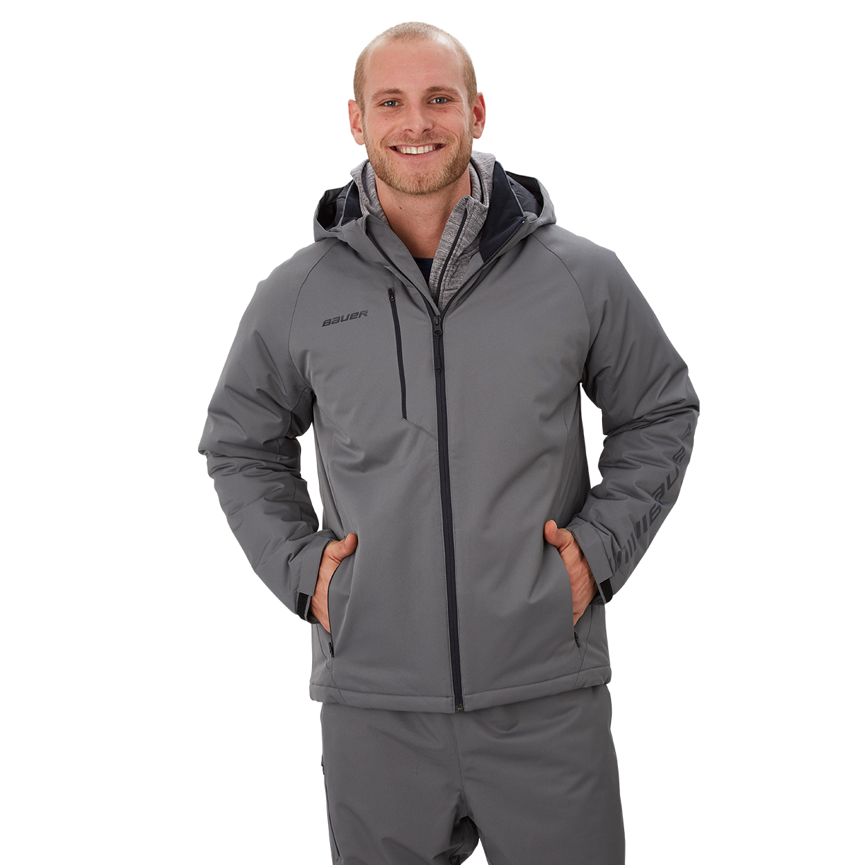 Bauer Supreme Heavyweight Jacket,Grey,medium