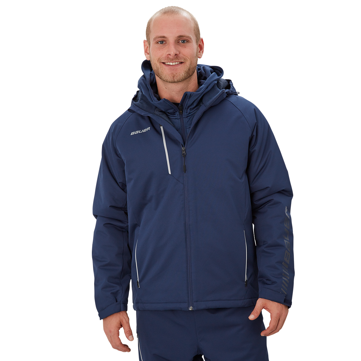 Bauer Supreme Heavyweight Jacket,Marineblau,Medium