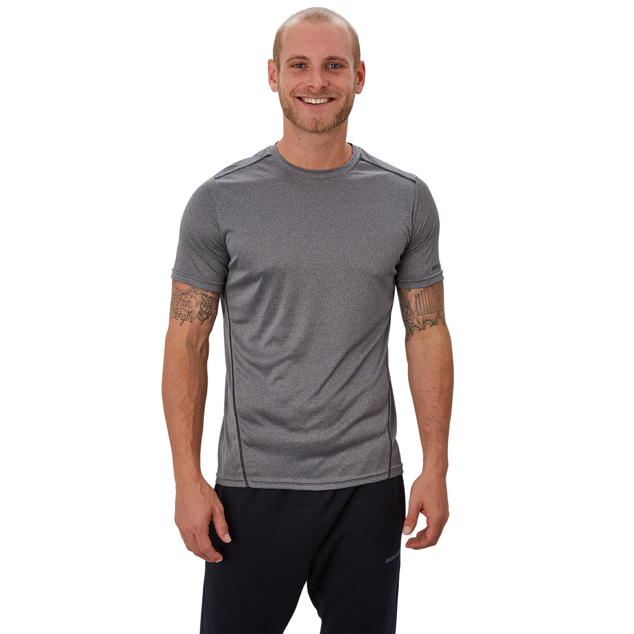 Bauer Vapor Team Tech Tee,Grey,medium
