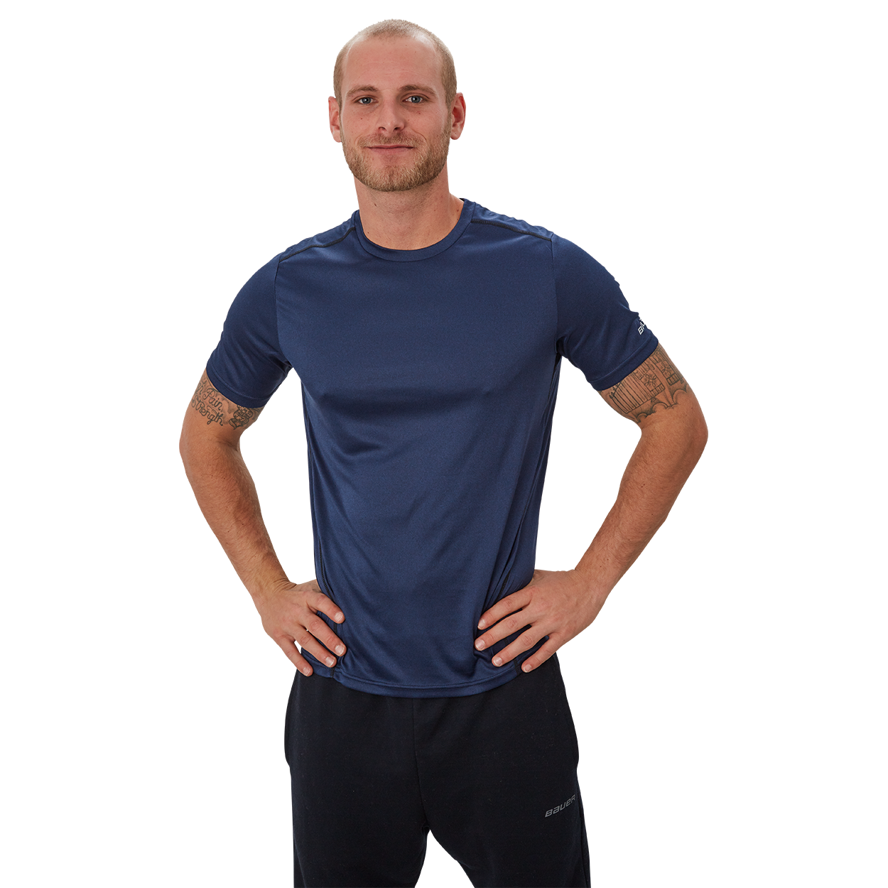 Bauer Vapor Team Tech Tee,Navy,medium
