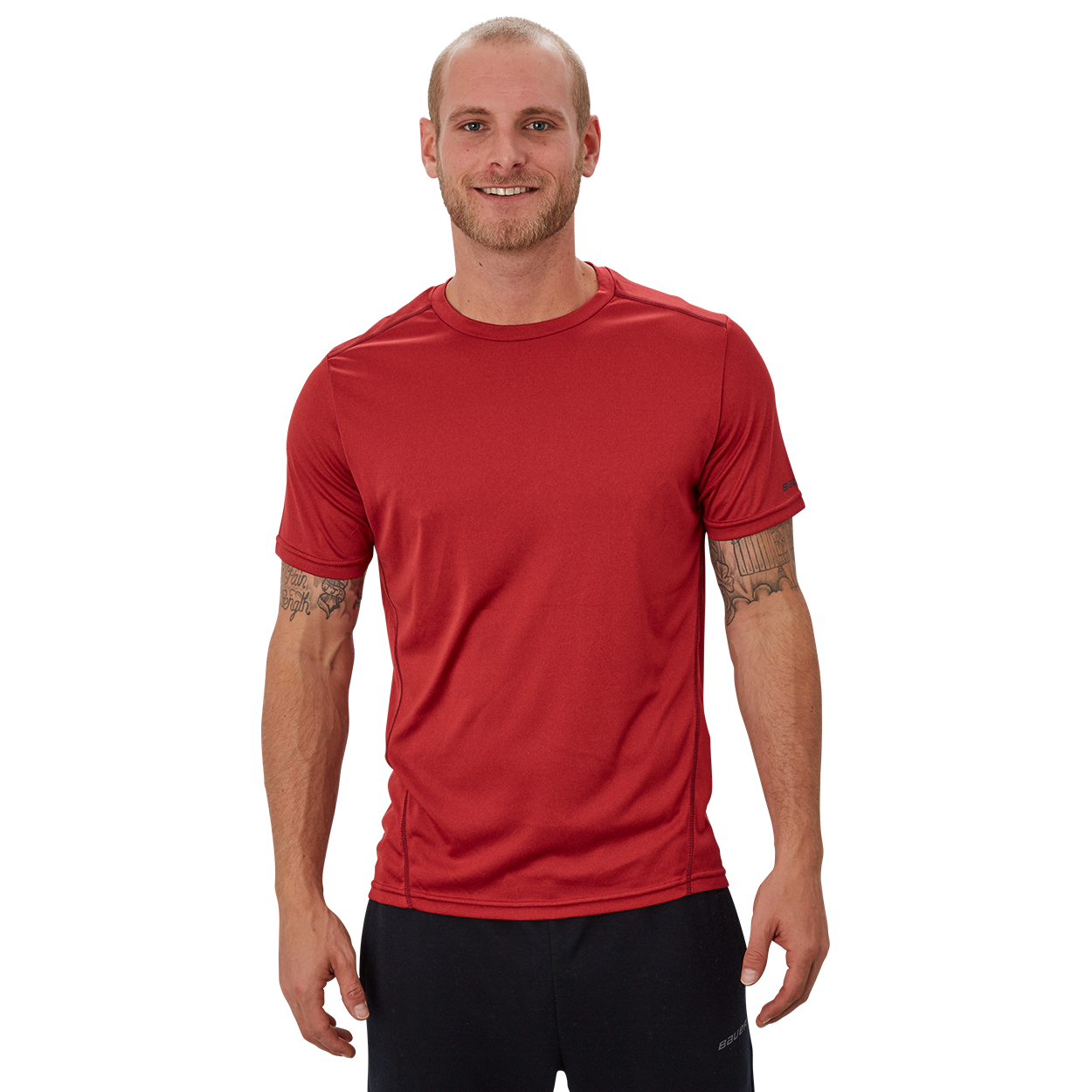 Bauer Vapor Team Tech Tee,Red,medium