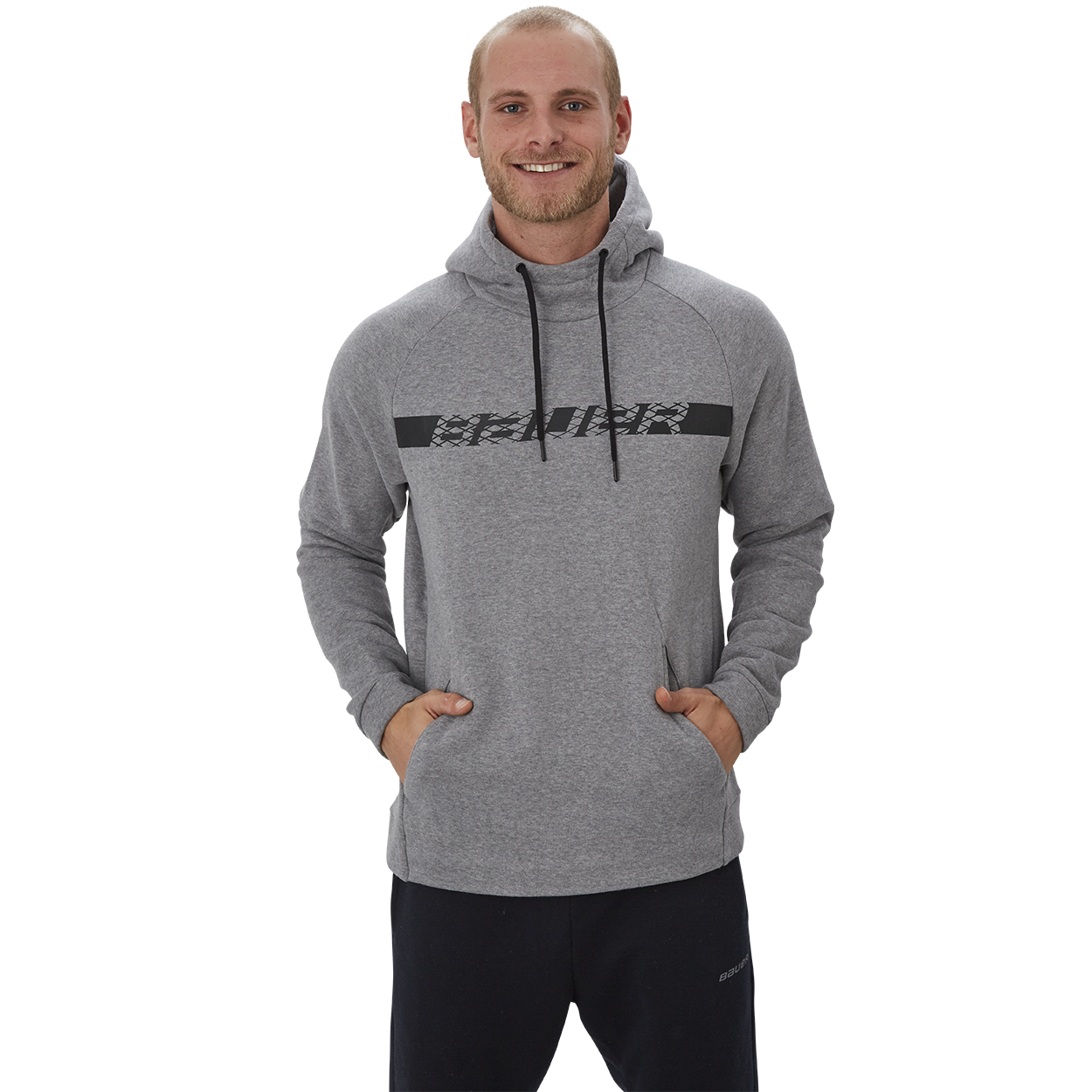 Perfect Hoodie with Graphic,Grau meliert,Medium