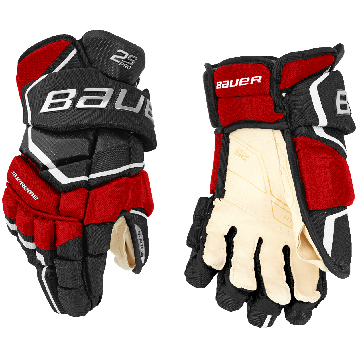 Supreme 2S PRO Gloves Senior,Schwarz/rot,Medium