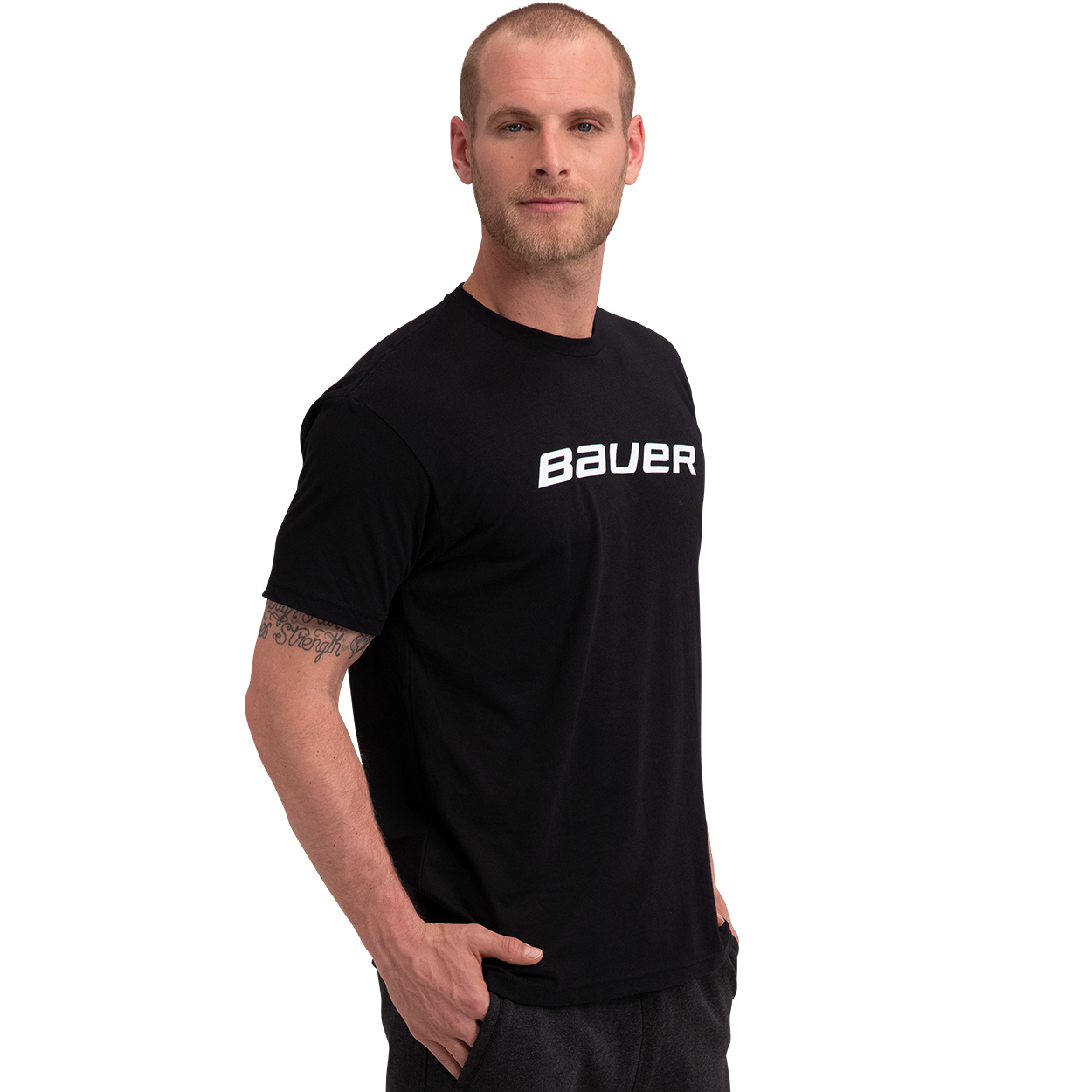 Core Kurzarm-T-Shirt,SCHWARZ,Medium