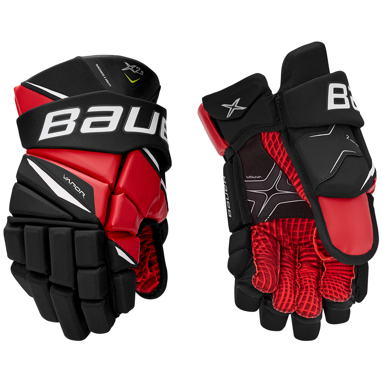 VAPOR X2.9 Gloves Junior,Schwarz/rot,Medium