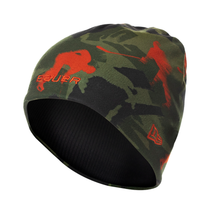 New Era Camo Print Fleece Beanie,,moyen