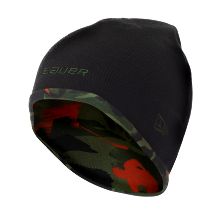 New Era Camo Print Fleece Beanie,,medium
