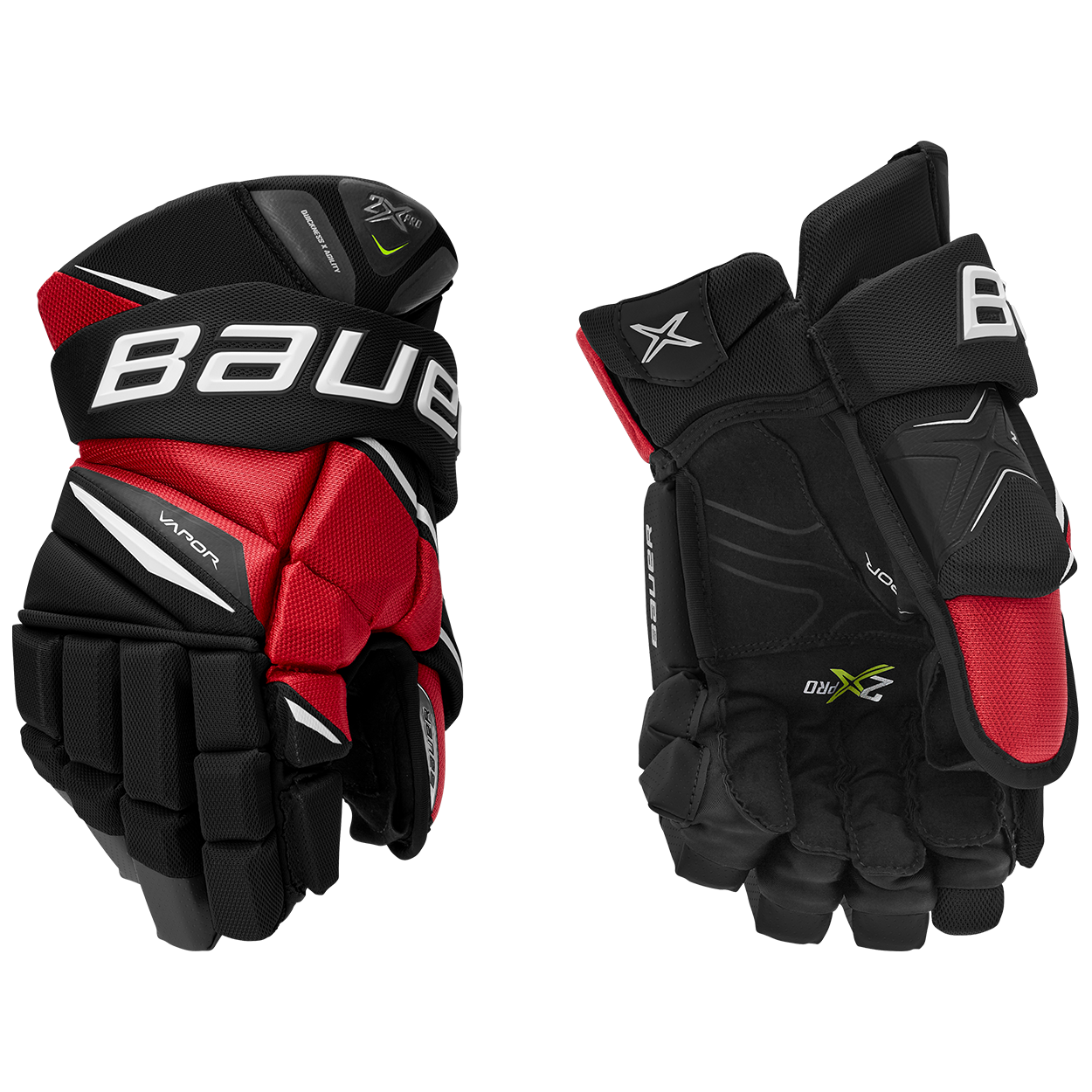 VAPOR 2X Glove Senior,Svart röd,medium