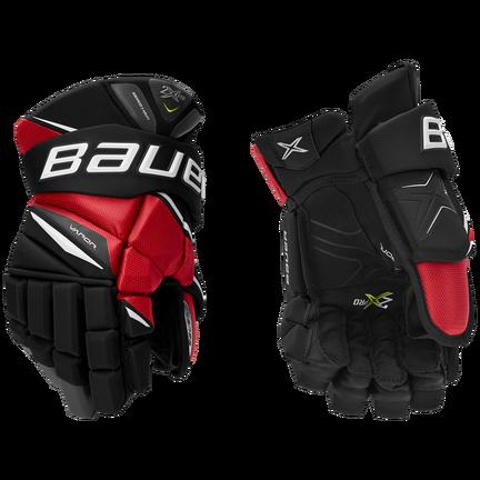 VAPOR 2X Glove Senior,Svart röd,medium