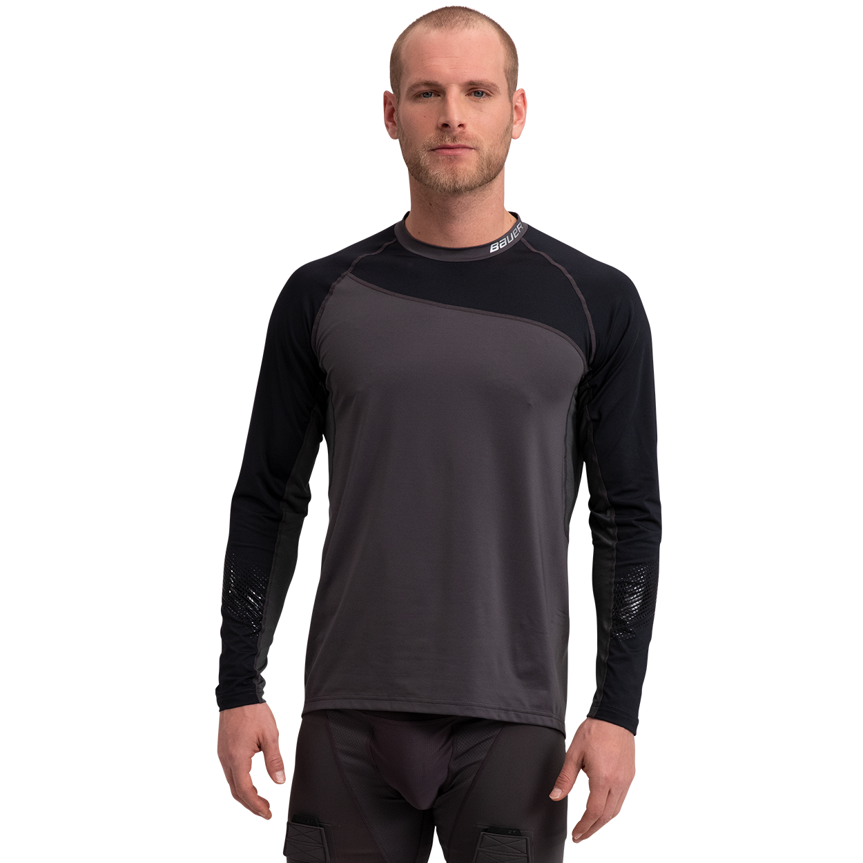 Pro Long Sleeve Base Layer Top Senior,Black,medium