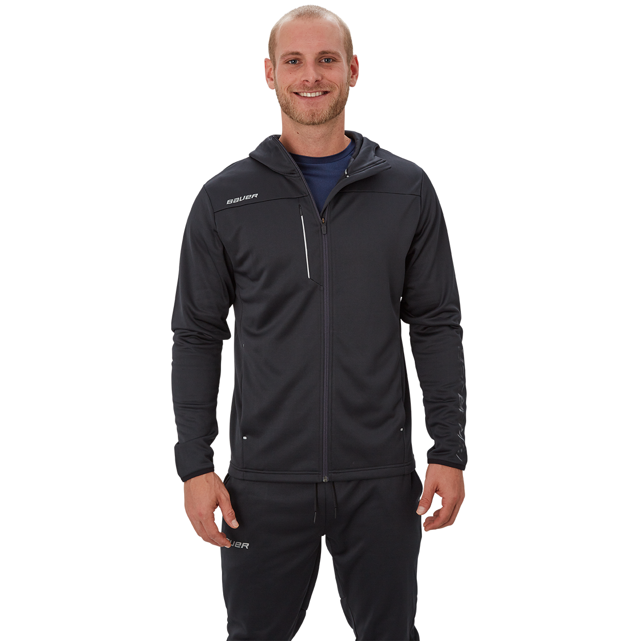 Bauer Vapor Fleece Zip Hoodie,Black,medium