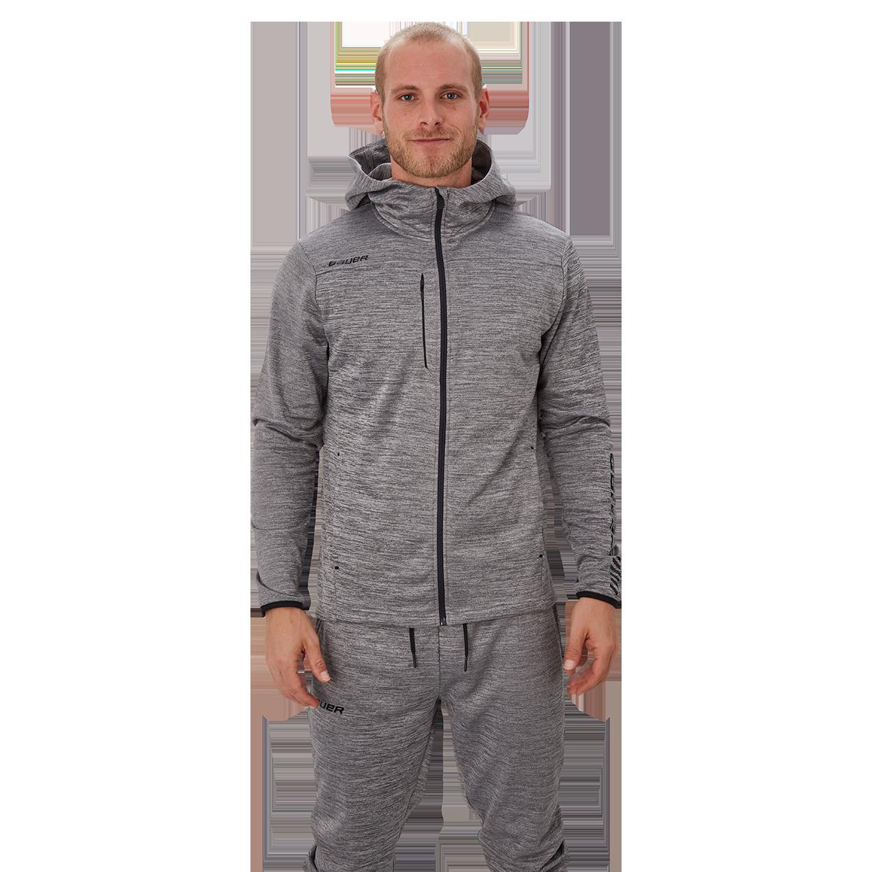 Bauer Vapor Fleece Zip Hoodie,Серый,Размер M