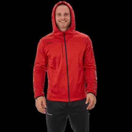 Bauer Vapor Fleece Zip Hoodie,Red,medium
