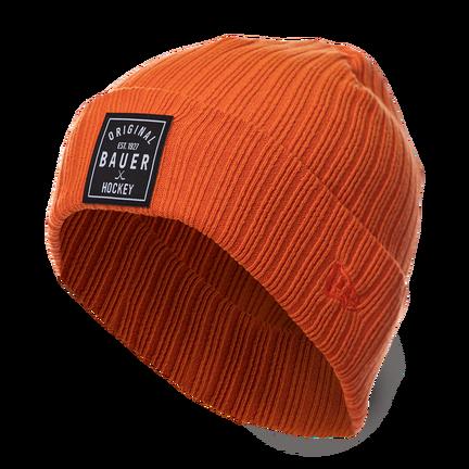 New Era Rib Knit Beanie w/ Patch,,medium