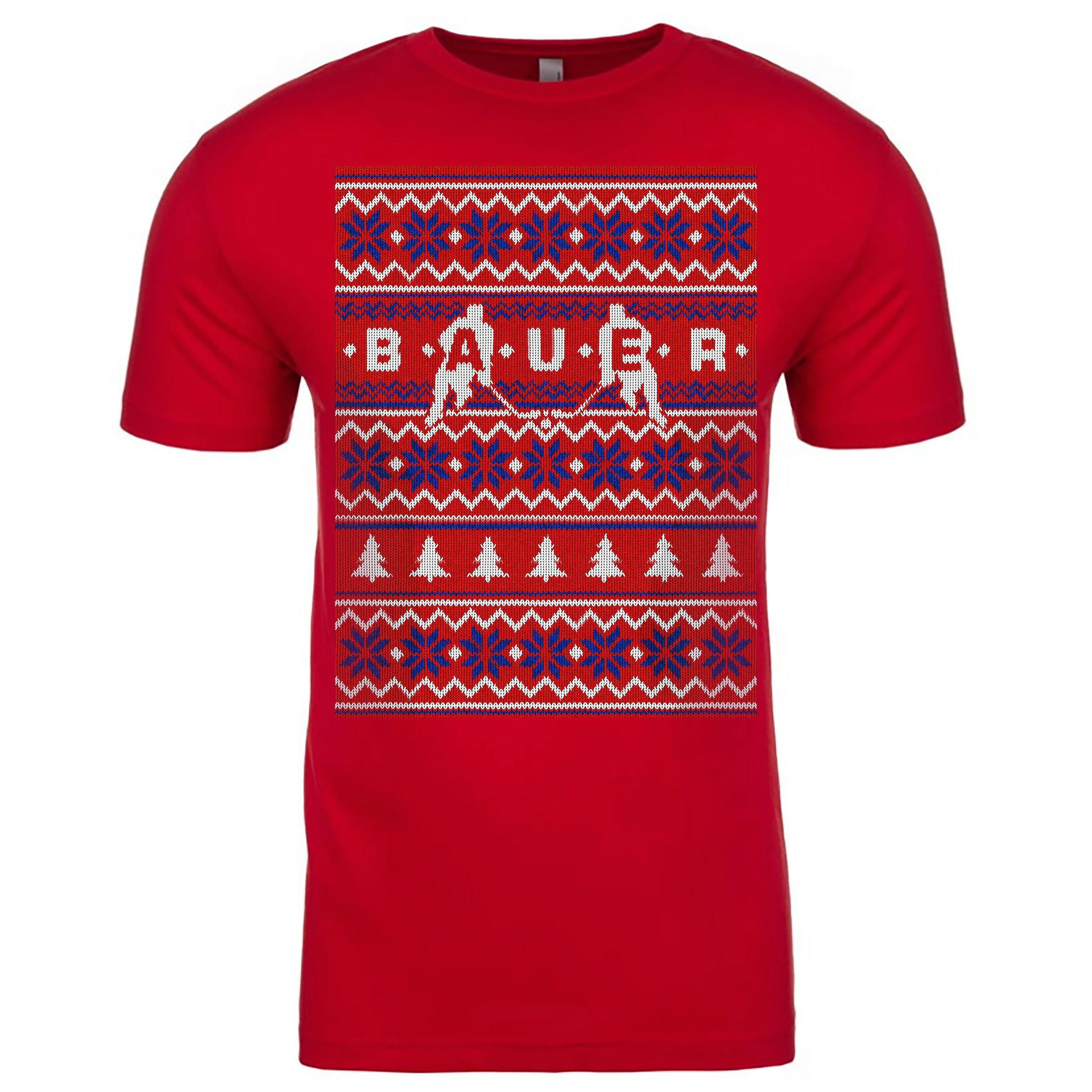 Bauer Short Sleeve Tee - Holiday Sweater Senior,,Medium
