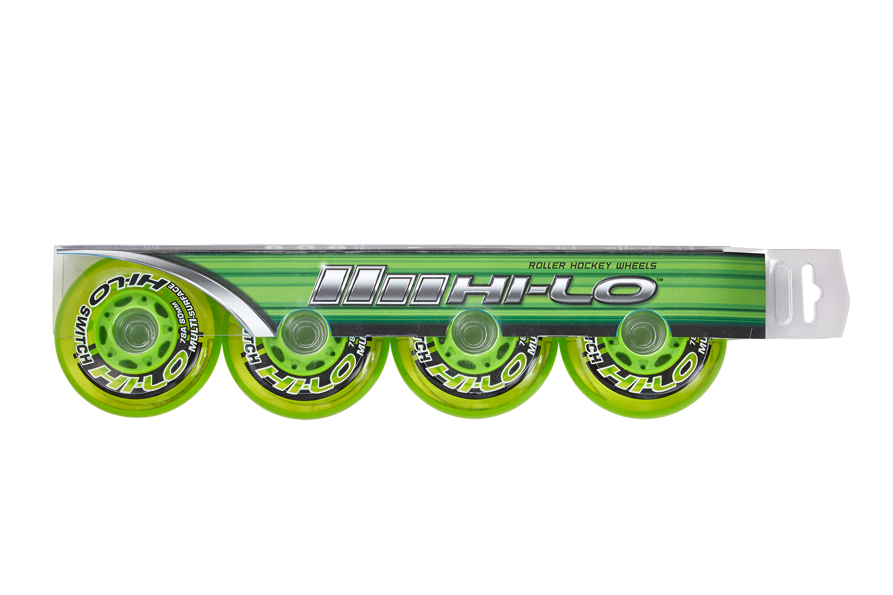 HI-LO SWITCH ROLLER HOCKEY WHEELS 4PK S19 (INDOOR / OUTDOOR),,moyen