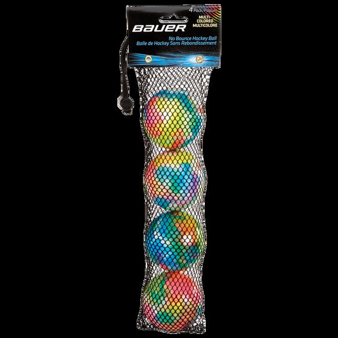 Mångfärgade studsfria hockeybollar