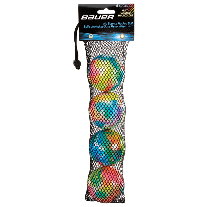 Multi-Colored No-Bounce Hockey Balls