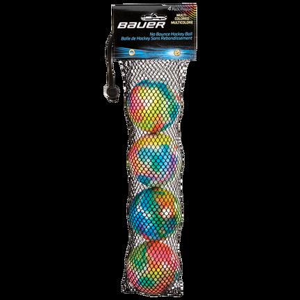 Mångfärgade studsfria hockeybollar,,medium