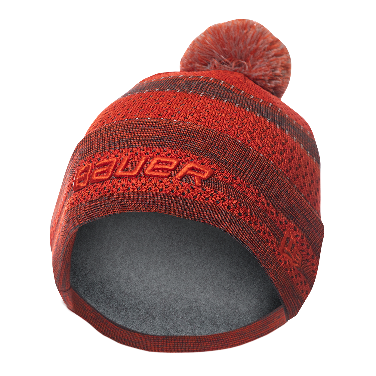 New Era Color Pop Pom Knit Stripe Beanie Youth - Orange,,Размер M